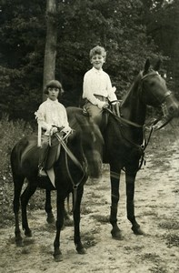 France Criminal Renée Saffroy Sons Horse Riding Old Manuel Photo 1930