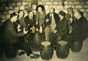France Paris Reunion of French masters of the Roman Noir Fiction Old Photo 1950