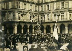 France Paris Place Rivoli Joan of Arch Festivity Jeanne d'Arc Old Photo 1910