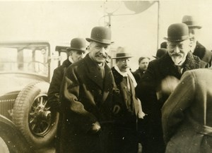 France Paris unidentified Politicians Blum or Briand ? Old Photo 1930