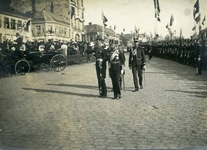 Norway Trondheim King Haakon VII & Prince of Wales Old Photo 1910