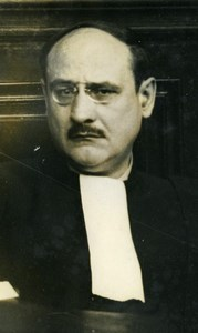 France Romagnino Portrait of Lawyer Raymond Hubert Old Photo Henri Manuel 1934