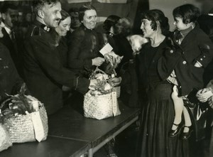 France Paris Gustave Isely Charity day at Salvation Army Old Photo 1938