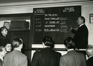 France Paris Stock Exchange First Gold Trading Georges Stroh Old Photo 1948