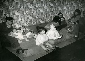 France Paris Squatters Homeless Families Boulevard Garibaldi Old Photo 1951