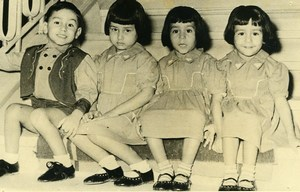 Turkey Izmir Quadruplets Children Mevlut Susurluk Old Photo 1954