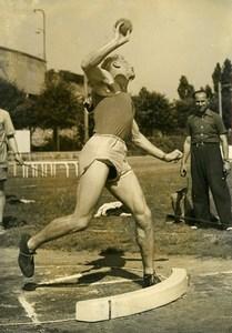France Paris Decathlon Pierre Sprecher French Championship Old Photo 1950
