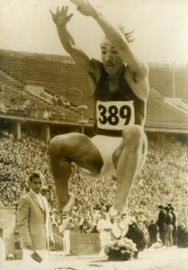 Germany Berlin Manfred Steinbach Long Jump Record 8.14m Old Photo 1960