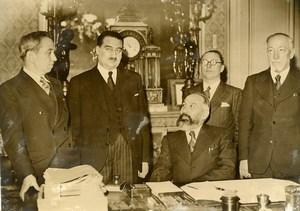 France Paris Marx Dormoy replaces Roger Salengro Politics Old Photo 1936
