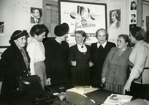 France Paris International Comity of Socialist Women Old Photo 1949