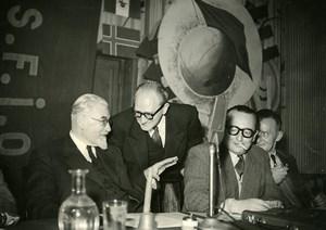 France Paris Paul Ramadier Guy Mollet National Council SFIO Socialism Photo 1950