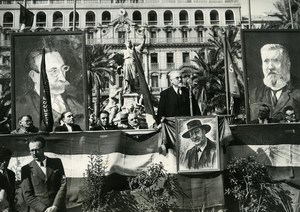 Toulon Paul Ramadier Death of Pierre Renaudel anniversary Socialism Photo 1947