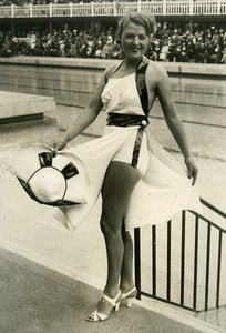 France Paris Molitor Water Day Miss Dolly Davis Bathing Suit Fashion Photo 1935