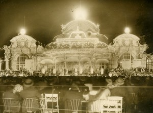 France Vichy Casino Garden by Night National Lottery Draw Old Photo 1936