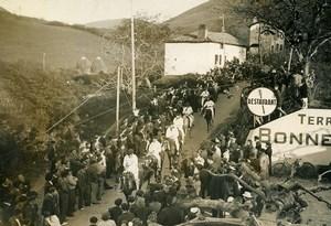 France Biriatou Pyrenees Bizarre Goose Tradition Old Photo 1936