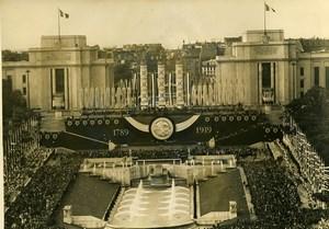 France Paris July 14 Celebration Palais de Chaillot Old Photo 1939
