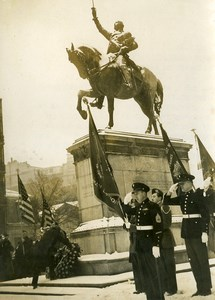France Paris Jefferson Caffery US Ambassador Statue of Washington Old Photo 1948