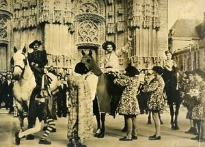 France Tours Cathedral Historical Celebration Francois Ier Old Photo 1949