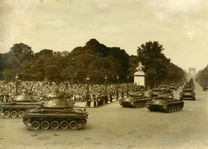 France Paris July 14 Celebration Military Parade Tanks Champs Elysees Photo 1952