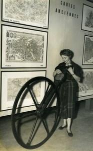 France Paris Sorbonne Antique Odometer Surveyor Congress Old Photo 1953