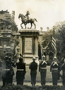 France Paris Lafayette Death Anniversary place du Carrousel Old Photo 1955