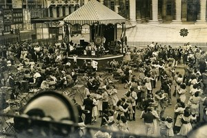 France Paris July 14 Place de la Bourse Celebration Ball Dance Old Photo 1957