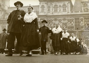 France Paris Folklore Festival Traditional Costumes Old Photo 1957