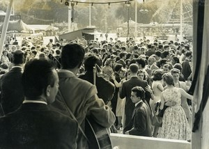 France Paris July 14 Outdoor Ball at Esplanade des Invalides Old Photo 1958