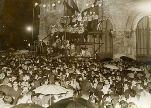 France Paris July 14 Celebration Ball at Beaux Arts Crowd Dance Old Photo 1962