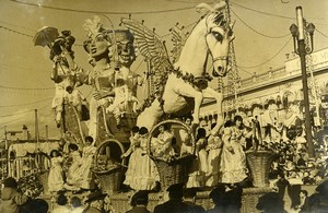 France Nice Place Massena Celebration Carnival Corso Carnaval Old Photo 1963
