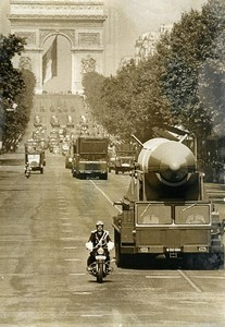 France Paris July 14 Parade Nuclear Missile SSBS Old Photo 1972