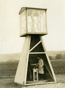France Vaux Verneuil Airport Radio Beacon Aviation Old Photo 1930