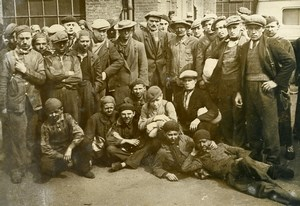 France Denain Anzin Mines Disaster Saved Miners Old Photo 1938