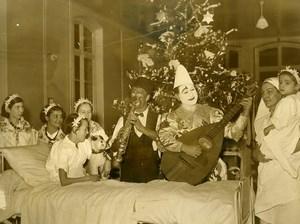 France Paris Trousseau Children Hospital Clowns Zavatta & Rolph Old Photo 1938