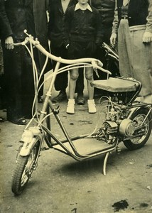 France Lyon Scooter FL22 Engineer Francois Lacombe Old Photo 1949