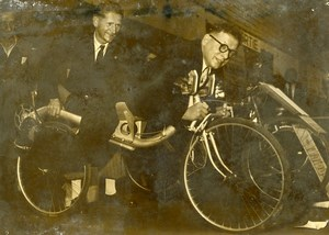 France Paris Concours Lepine Odd Bicycle Pierre Bourguignon Velopla Photo 1949