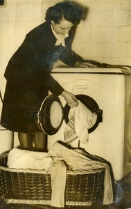United Kingdom Automatic Laundry Bendix Combo washer dryer Old Photo 1960