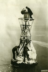 Canada Newfoundland Icebreaking on Buoys Lighthouses Old Photo 1930