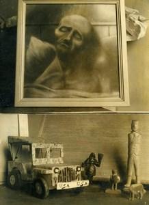 France Paris Asylum Ste Anne Outsider Art Exhibition Old Photo 1960