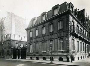 France Paris Hotel Particulier Rue de Presbourg Brunei Embassy Old Photo 1900
