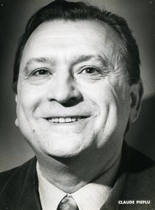 France Cinema Actor Claude Pieplu Old Photo 1970