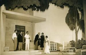 France Odeon Theater Play Louis Jouvet Un Taciturne Old Photo Lipnitzki 1931