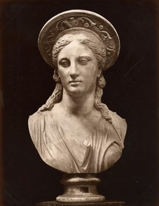 Italy Antiquity Roman Sculpture Juno Queen of the Gods Old Photo Anderson 1880