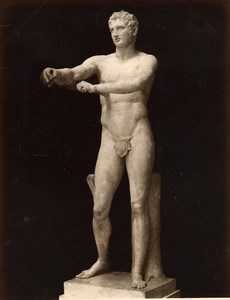 Italy Museum Antiquity Roman Sculpture Apoxyomenos Old Photo 1880