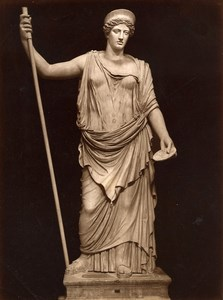 Italy Museum Antiquity Roman Sculpture Juno Old Photo 1880