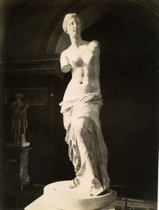 France Museum Antiquity Greek Sculpture Venus de Milo Aphrodite Old Photo 1880