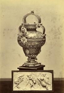 France Earthenware vase Henri II Bas Relief Gallery Pourtales Goupil Photo 1870