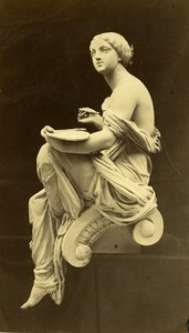 France Sculpture cast Iron by Durenne Old Photo Graveri 1860