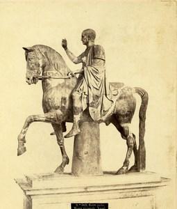 Italy Napoli Sculpture Father Balbo Old Photo Roberto Rive 1870