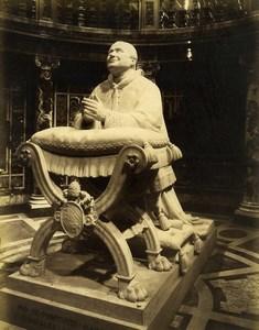 Italy Rome Statue du Pape Pio Pie IX Santa Maria Maggiore Ancienne Photo 1890